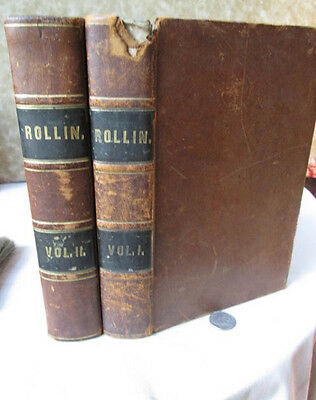2Vols,THE ANCIENT HISTORY Of EGYPTIANS & OTHERS,1847,Charles Rollin