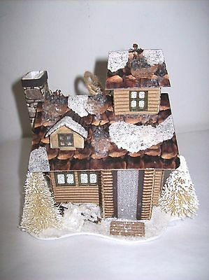 """Woodland House Ornament (Style #2) Lights up!  by """"One Hundred 80 Degrees"""""""