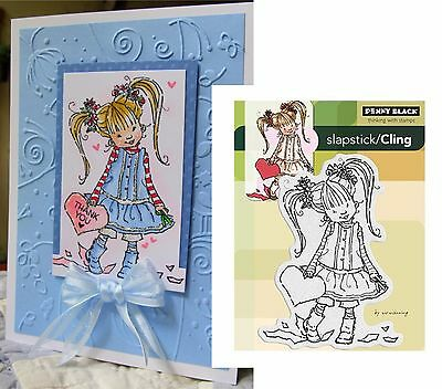 "Penny Black Stamps ""HER HEART"" 40-184 Wedding love Valentine's rubber stamp"