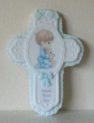 Precious Moments ~Cross ~ Baby Boy Praying  Mint In Box*
