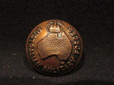 Australian Military Forces WWII Brass Uniform Button 25MM K C Luke Pty Ltd