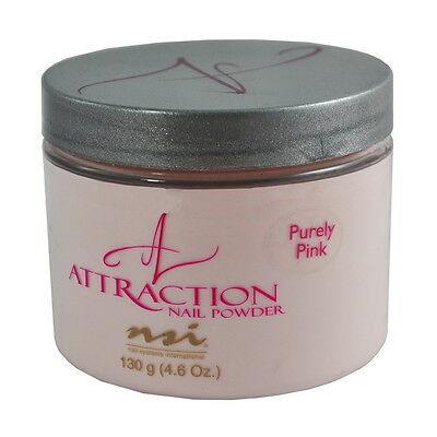 nsi Attraction Nail Acrylic Powder Purely Pink 4.6 oz 130g