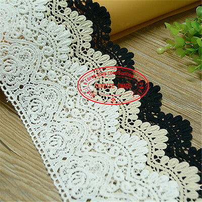 1yard,Vintage Crochet embroidered Cotton lace trim dress Curtain Sewing DIY FL34