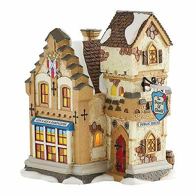 New DEPT 56 Department DICKENS VILLAGE Lighted House THE SWORD & SHIELD Building