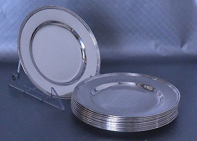 International Lord Saybrook Sterling Silver Plates Set of 12