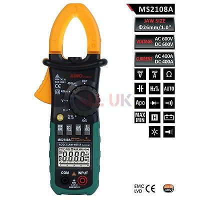 AIMOmeter MS2108A 4000 Counts Auto Range Digital Clamp Multimeter AC DC Voltage