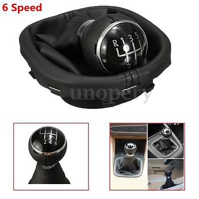6 VELOCIDAD POMO PALANCA CAMBIOS CON FUNDA For VW Touran Caddy II MK2 Shift Knob