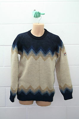 "Vintage Fila Jumper Sweater Round Neck Top Casual Wool Knitted 40"" M Medium"