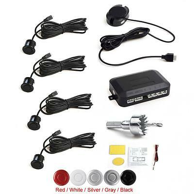 Black Buzzer Car Parking Sensor System with Audible Alarm with 4 Black Sensors