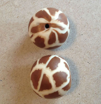 Animal Round 15/17mm Giraffe Polymer Clay Bead - Handcrafted, Nepalese, Craft