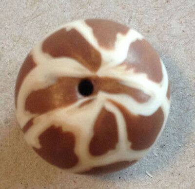 Animal Round 15/17mm Zebra Polymer Clay Bead - Handcrafted, Nepalese, Craft