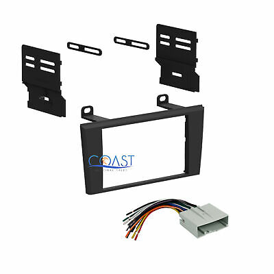 Double Din Car Radio Stereo Dash Kit Harness for 2004-2006 Ford Lincoln LS