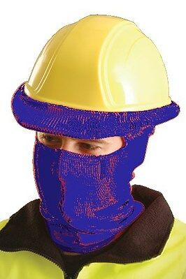 Occunomix Knitted Tube Full Face Liner for Hard Hat - Navy Blue