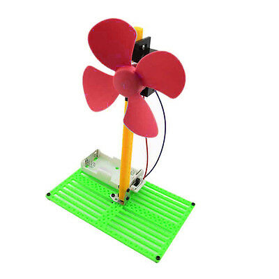 DIY Battery Powered Fan Summer Cooling Cooler Kit Children Educational Toy UR