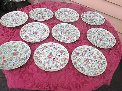 COL01  Lot of 10 Antique Chinese Export Porcelain Plate s