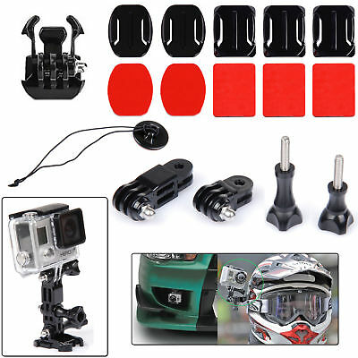 EEEKit Adhesive Helmet Front Mount Kit For Gopro 5 4 Black Silver Session LCD 3+