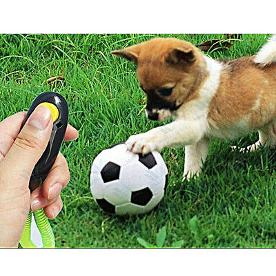Dog Pet Training Clicker Obedience Trainer Aid with Wrist Strap 5 Colors New EW