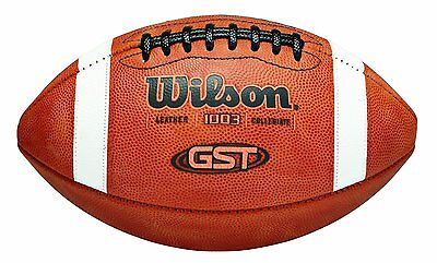 New Wilson NCAA 1003 GST Leather Game Ball American Football Official Size