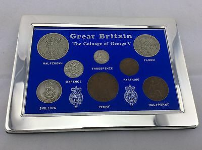 1936 Luxury Coin Year Gift Set - set in a silver plated frame - FREE POSTAGE
