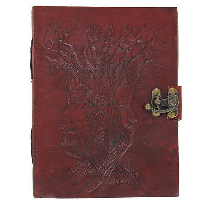 Tree of Wisdom Mother Earth Father Time Handmade Locking Leather Diary Journal