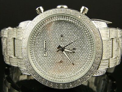 320fbddffa8 Mens Jojo Jojino Joe Rodeo Iced Out 105 Diamond Watch MJ-1000 1.05 Ct