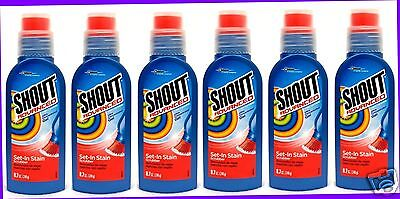 6 Shout Advanced LAUNDRY STAIN REMOVER Set-In Stain SCRUBBER Concentrated Gel