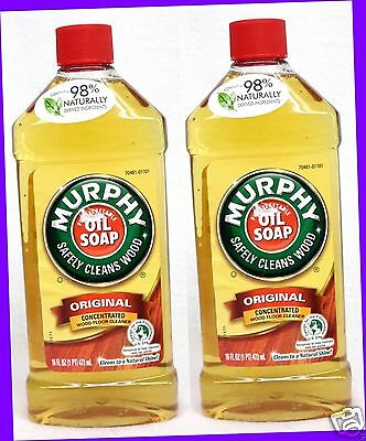 2 Murphy Pure Vegetable Oil SOAP Original Concentrated Wood Floor Cleaner 16oz e