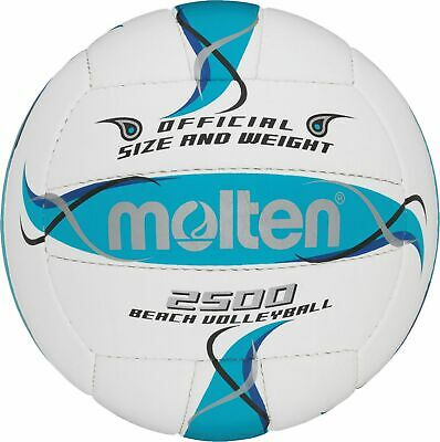Molten Beachvolleyball Trainingsball Volleyball Strandball BV2500-FBO weiß 5