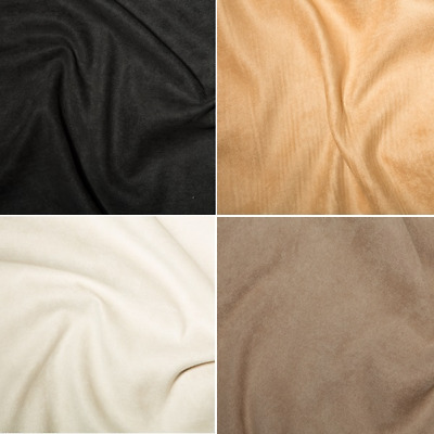 High Quality Polyester Faux Suede Fabric 150cm Wide Suedette