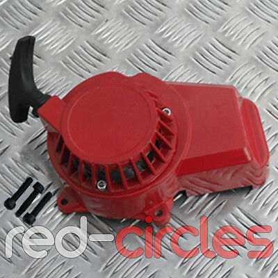 RED 49cc METAL COG MINI MOTO MINIMOTO DIRT BIKE PULL START CORD PULLSTART