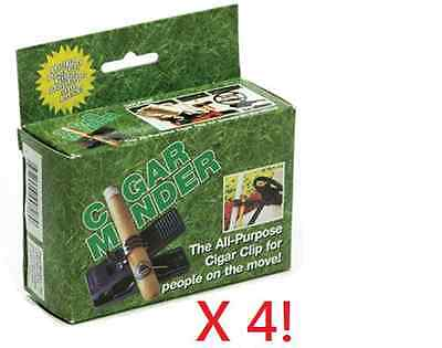 Cigar Minder Cigar Holder Clip X 4 - Great Gift, Ships Same Day as Payment! NIB