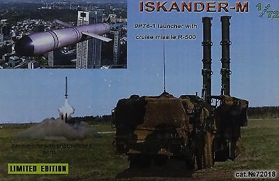 ZZ MODELL 72018 Iskander-M 9P78-1 Launcher w/Cruise Missile R-500 in 1:72