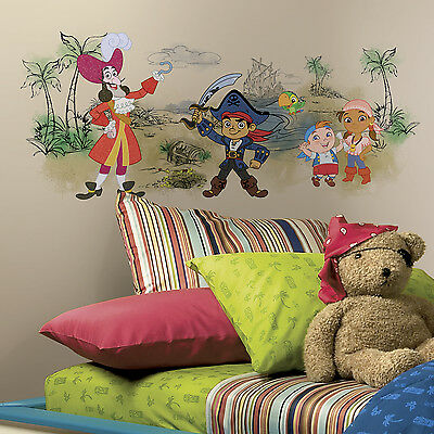 CAPTAIN JAKE AND THE NEVERLAND PIRATES SCENE WALL DECALS Pirate Room Stickers