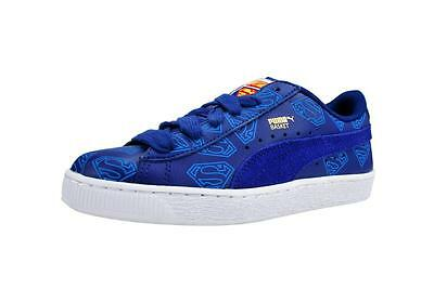 c5a85aef62f7 Puma Shoes Basket Superman Jr Youth Big Boys Sodalite Blue Sneakers 358861  01