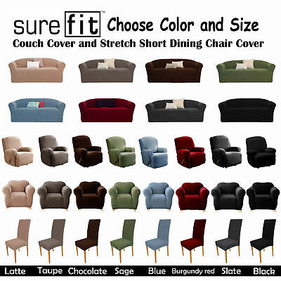 Stretch SUREFIT Couch Cover - 1 Seater, 1 Seater Recliner, 2 Seater, 3 Seater