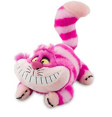 "Disney Authentic Patch Cheshire Cat Plush Stuffed Animal 20"" Alice in Wonderland"