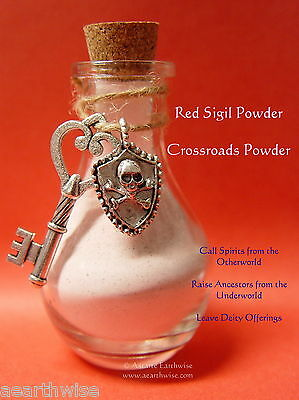 RED DRAGONS BLOOD SIGIL POWDER, HECATE CHARMS & INFO SHEET Wicca Witch Goth