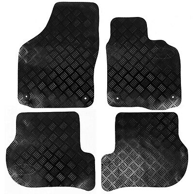 VW Golf Mk 6 Deluxe Tailored Rubber Car Mats 2008-2013 Black 4pc Floor Mat Set