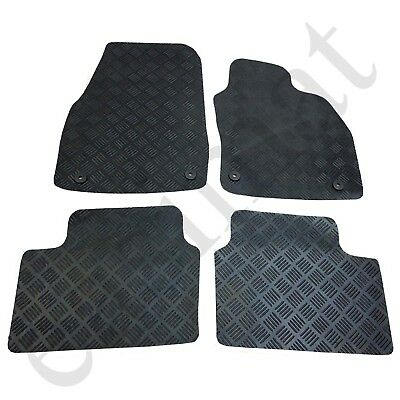 Vauxhall Astra H Mk5 Tailored Rubber Car Mats 2004-2009 Black 4pc Floor set