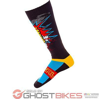 Oneal Braaapp Pro MX Socks Off Road Motocross Ribbed Knee High Moisture Wicking