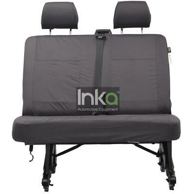 VW Transporter T5 Inka Tailored Waterproof Rear Double Bench Seat Cover Grey