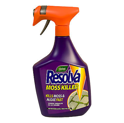 Resolva Moss Killer Extra Strong Mould Algea Remover Patio Fence Drive Cleaner