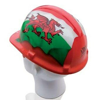 National Flags Hard Hats-Wales