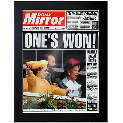 Framed Birthday Newspaper Front Page Print