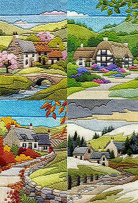 Derwentwater Designs Long Stitch Kit - Seasons, Cottages