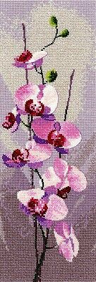 Heritage Crafts Cross Stitch Kit - Orchid Flower Panel