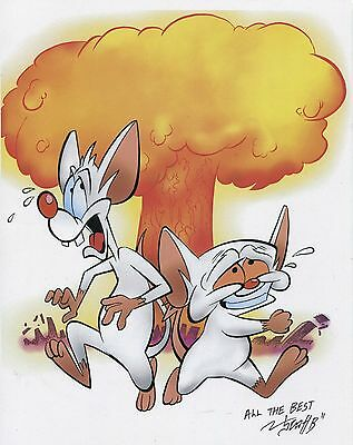 Pinky And The Brain Ka Boom Signed Fun Tribute 8.5x11 Print With COA