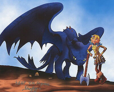 How To Train Your Dragon Signed Tribute 8.5x11 Print With COA