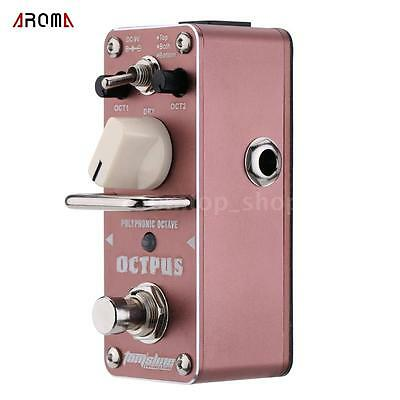 AROMA AOS-3 Octpus Polyphonic Octave Electric Guitar Effect Pedal M21D