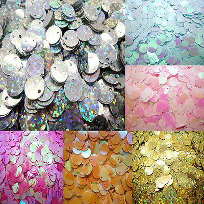 120pcs DIY 10mm shiny Round Loose Sequins Paillettes Sewing Wedding many pick
